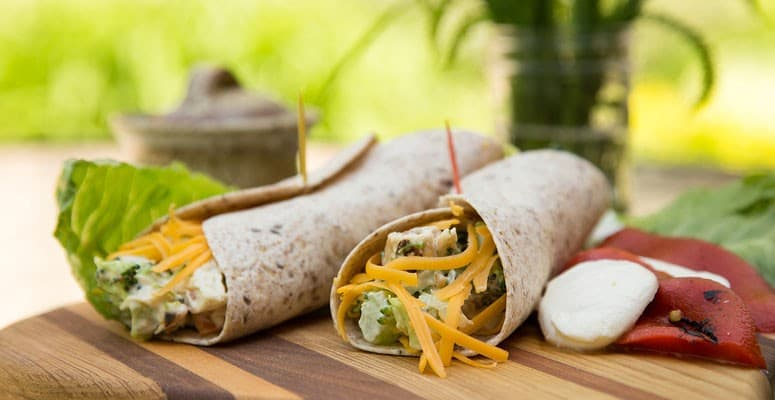 summer-recipes-chicken-wraps