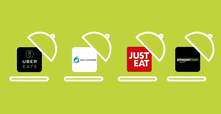 Image result for Deliveroo, JustEat, UberEats