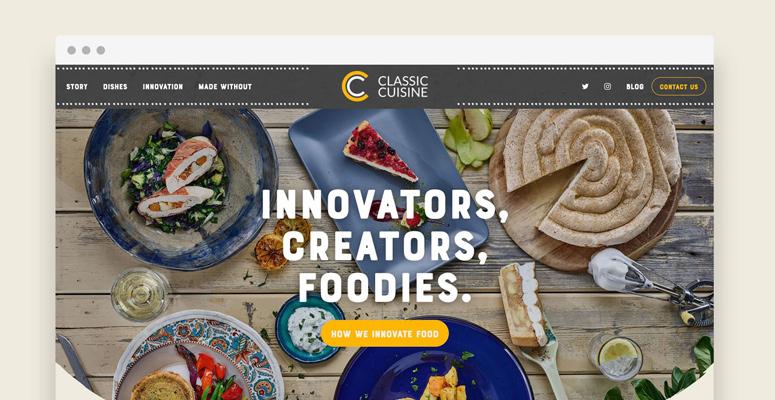 Classic Cuisine Website
