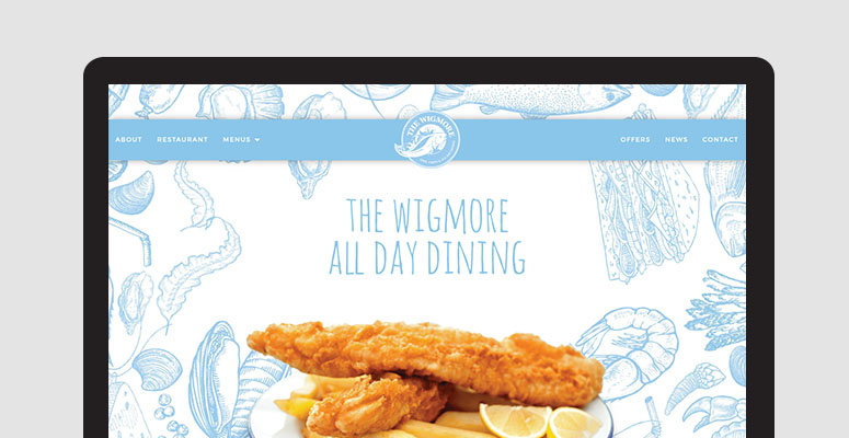 the wigmore website design