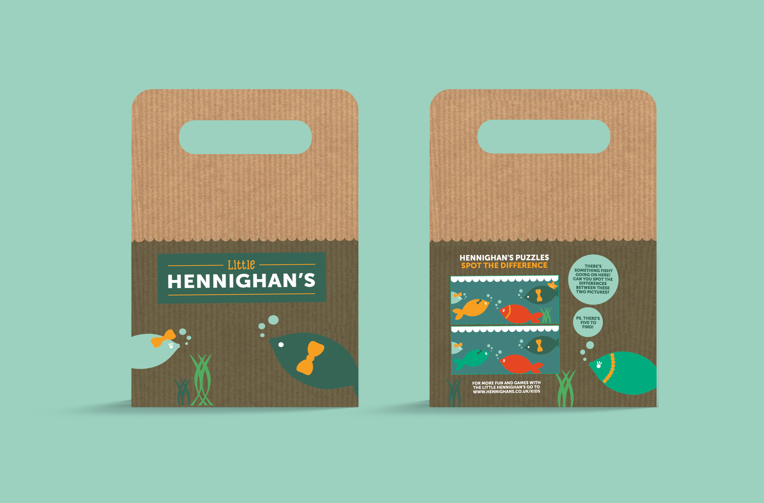 Hennighans fish and chips food packaging f