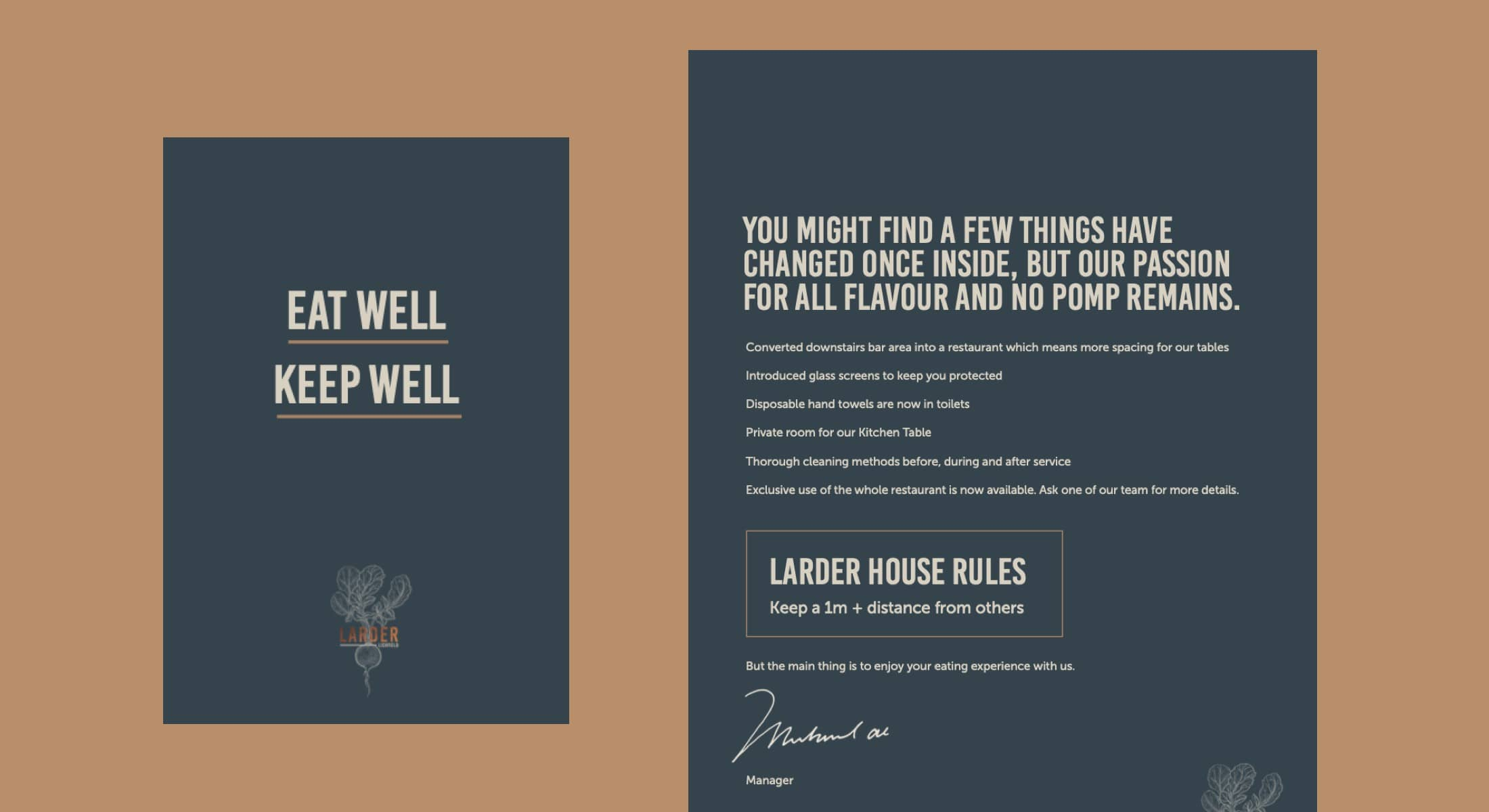Bounceback campaign for Larder Lichfield